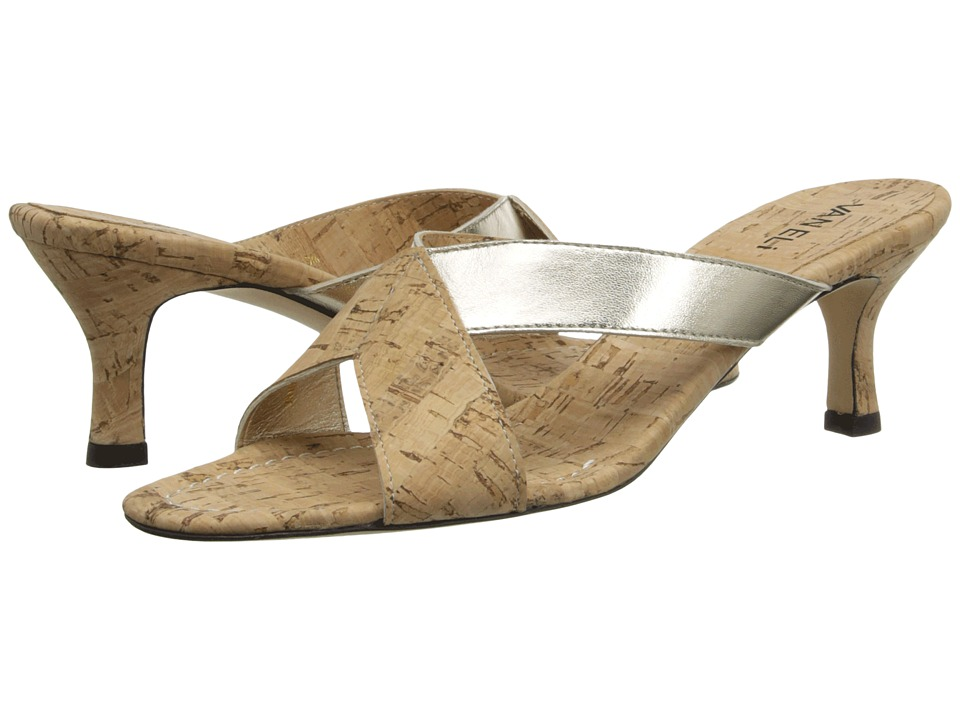 Vaneli - Millie (Platino Met Nappa/Natural Cork/Nat Cork Sock) Women's Slide Shoes