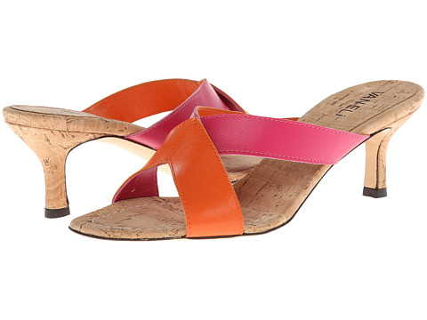 Vaneli - Millie (Fushia Nappa/Orange Nappa/Nat Cork Sock) Women's Slide Shoes
