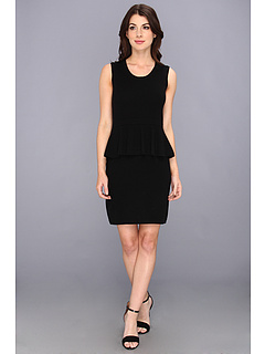 SALE! $99.99 - Save $230 on Autumn Cashmere Sleeveless Peplum Patent Zip Dress (Black) Apparel - 69.70% OFF $330.00