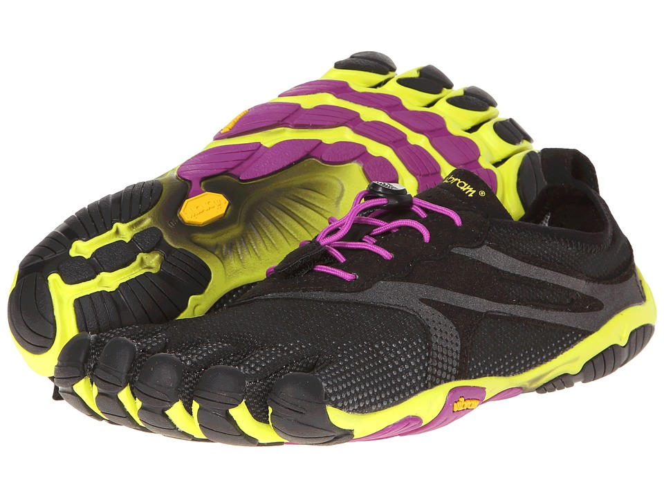 Vibram FiveFingers - V Run EVO (Black/Yellow/Magenta) Women's Shoes