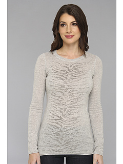 SALE! $144.99 - Save $141 on Autumn Cashmere Jeweled Zebra Tee (Fog Combo) Apparel - 49.30% OFF $286.00