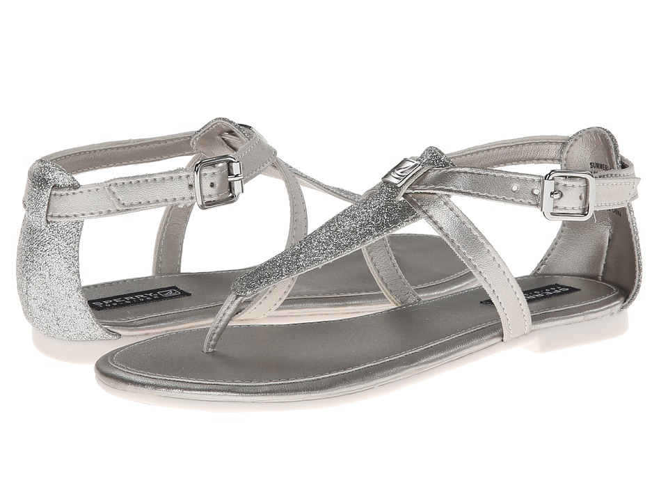 Sperry Top-Sider Kids - Summerlin (Little Kid/Big Kid) (Silver Glitter Synthetic) Girls Shoes plus size,  plus size fashion plus size appare