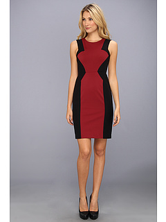 SALE! $136.99 - Save $111 on BCBGMAXAZRIA Evelyn Blocked Sheath Dress (Merlot) Apparel - 44.76% OFF $248.00