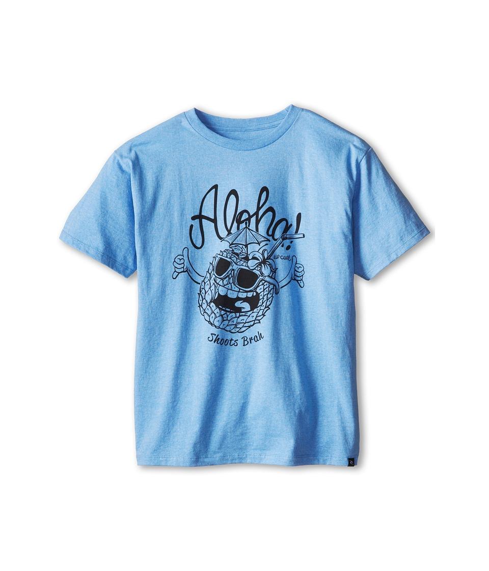 Rip Curl Kids Shoots Brah Heather Tee Boys T Shirt (Blue)