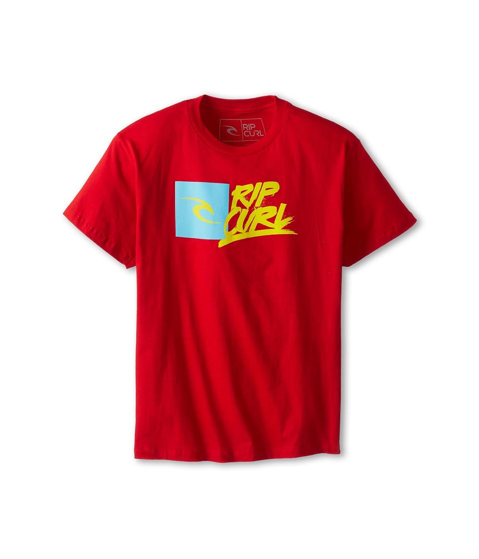 Rip Curl Kids Brash Premium Tee Boys T Shirt (Red)