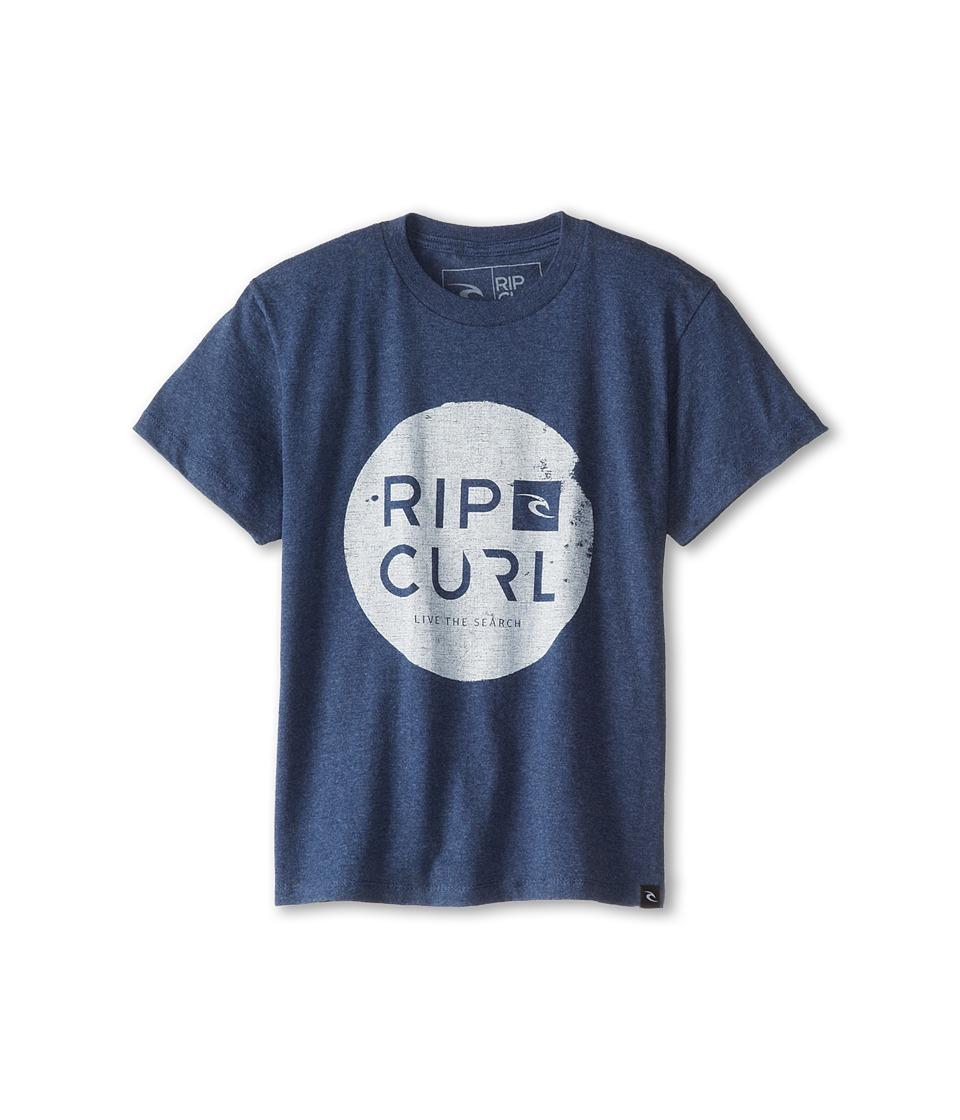 Rip Curl Kids Capital Heather Tee Boys Short Sleeve Pullover (Gray)