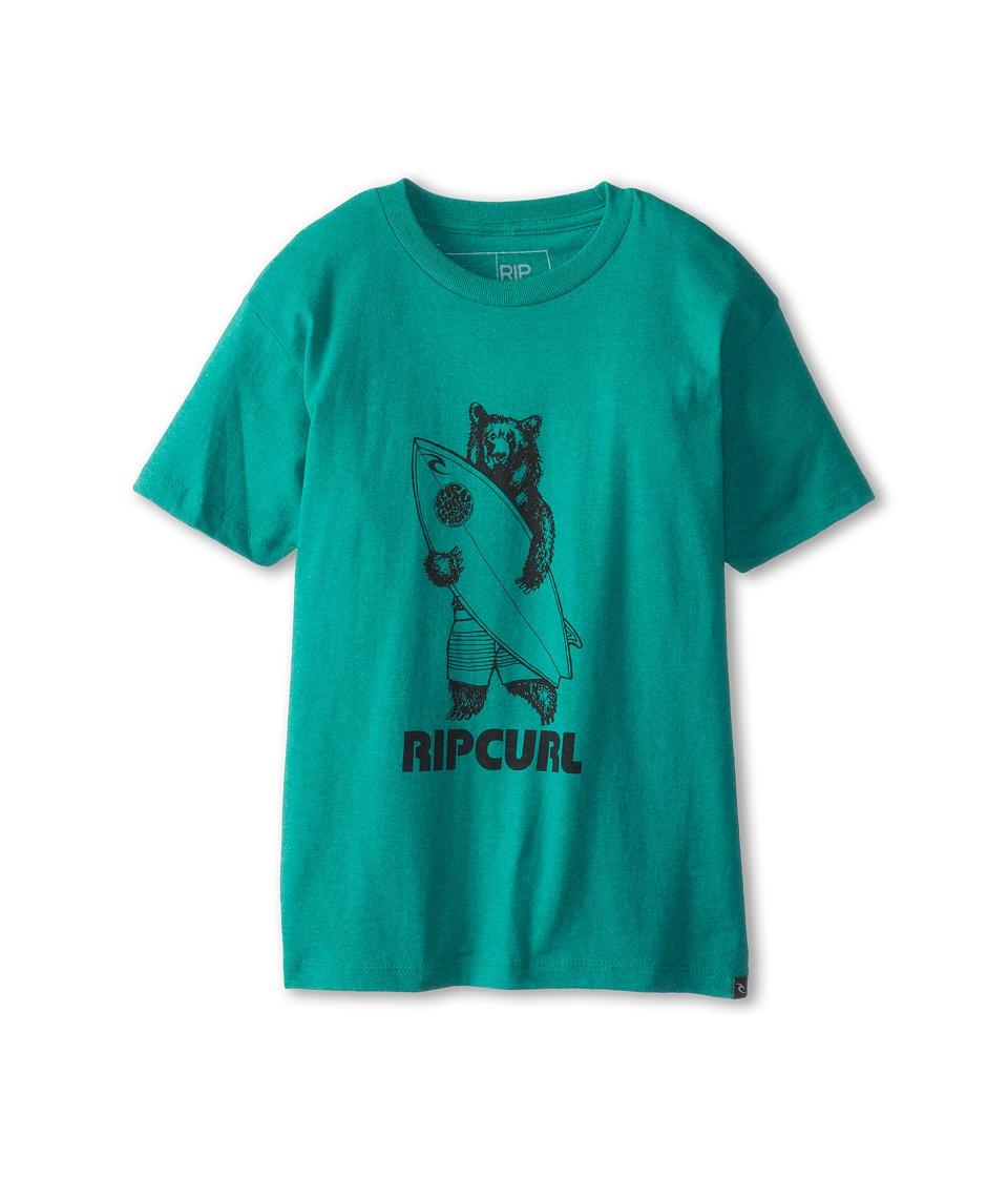 Rip Curl Kids Bear Heather Tee Boys Short Sleeve Pullover (Green)