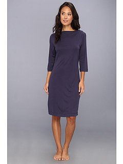 SALE! $66.99 - Save $81 on Hanro Laura 3 4 Sleeve Nightgown (Midnight Blue) Apparel - 54.74% OFF $148.00