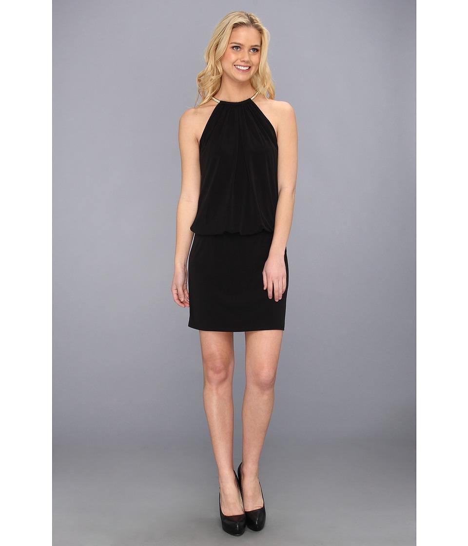 Jessica Simpson - ITY Blouson with Necklace Halter (Black) Women's Dress