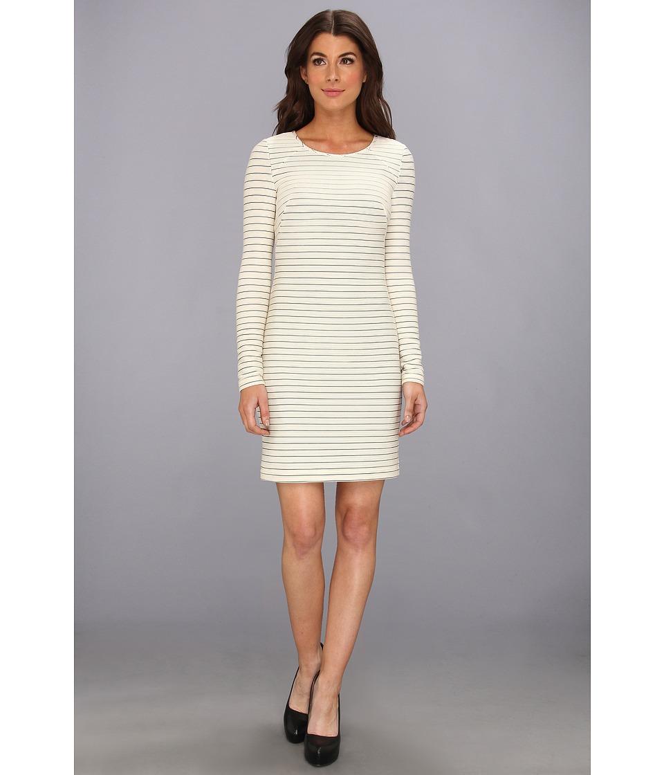 Jessica Simpson - Long Sleeve Shift Dress (Cement) Women's Dress