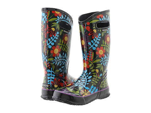 Bogs - Rainboot Floral (Black Multi) Women's Rain Boots