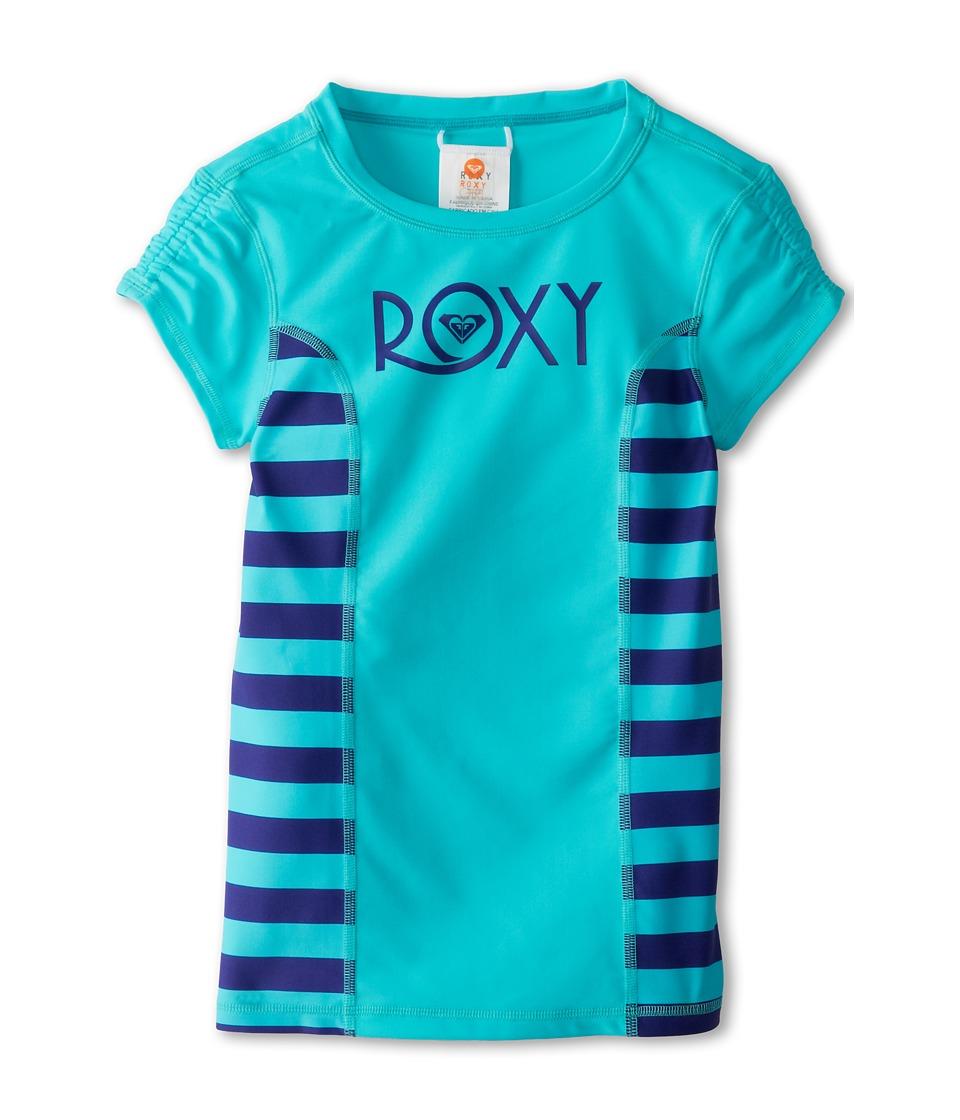Roxy Kids Roxy Escape Low Tide S/S Rashguard Girls Swimwear (Blue)