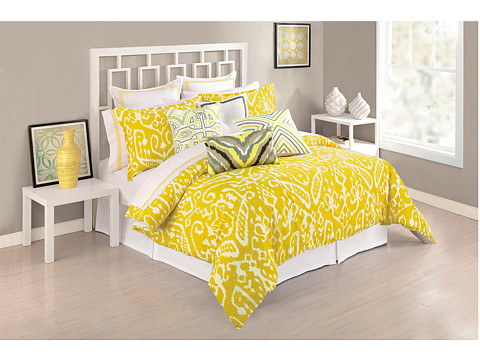 Trina Turk - Ikat Duvet Set - King (Yellow) Sheets Bedding