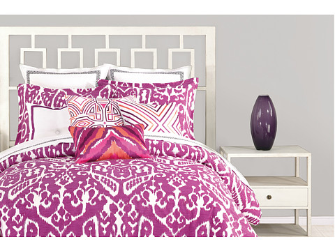 Trina Turk - Ikat Duvet Set - King (Purple) Sheets Bedding