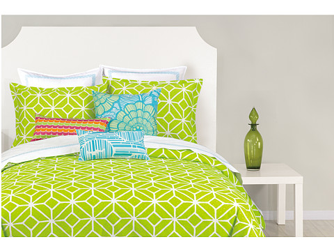 Trina Turk - Trellis Comforter Set - Twin/Twin X-Long (Lime) Sheets Bedding