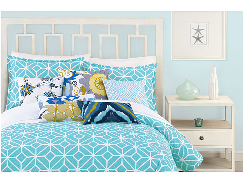 Trina Turk - Trellis Duvet Set - King (Turquoise) Sheets Bedding