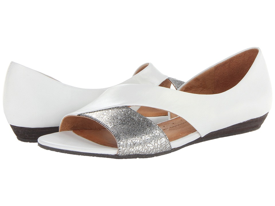 Naya - Heaton (White Leather/Silver Metallic) Women