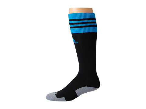 adidas - Copa Zone Cushion II Soccer Sock (Black/Solar Blue) Knee High Socks Shoes