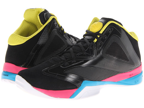 Reebok Lifestyle The Pump Revenge (Black/Blue Bomb/White/Pink Fusion/Ultimate Yellow) Men's Shoes