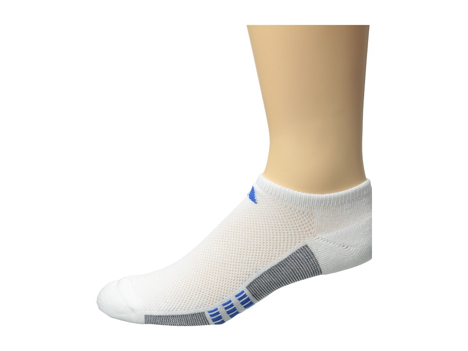 adidas - Climacool Superlite 3-Pack No-Show Socks (White/Aluminum 2/Blue Beauty) Men's No Show Socks Shoes