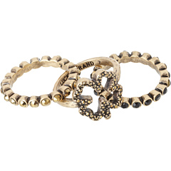 SALE! $12.99 - Save $12 on Lucky Brand Waterlily Clover Stack Set Ring (Gold) Jewelry - 48.04% OFF $25.00