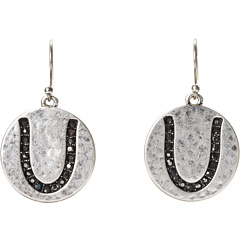 SALE! $14.99 - Save $14 on Lucky Brand Silver Horseshoe Pave Earrings (Silver) Jewelry - 48.31% OFF $29.00