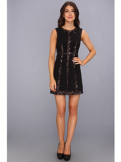 SALE! $224.99 - Save $73 on BCBGMAXAZRIA Marae Blocked A Line Dress (Black) Apparel - 24.50% OFF $298.00