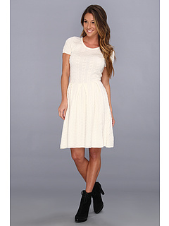 SALE! $161.99 - Save $86 on BCBGMAXAZRIA Cydney Cable A Line Dress (Gardenia) Apparel - 34.68% OFF $248.00