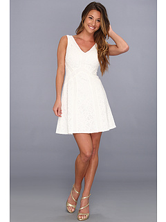 SALE! $151.99 - Save $186 on BCBGMAXAZRIA Gracie Lace Block Dress (Off White Combo) Apparel - 55.03% OFF $338.00
