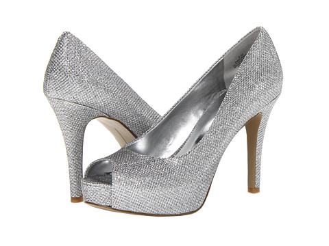 Nine West - Camya (Silver Fabric) High Heels