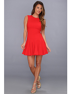 SALE! $146.99 - Save $121 on BCBGMAXAZRIA Petite Kalyn Sleeveless Godet Dress (Jewel Red) Apparel - 45.15% OFF $268.00