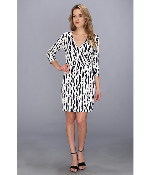 Laundry by Shelli Segal - Bamboo Wrap Dress (Inkblot) Women