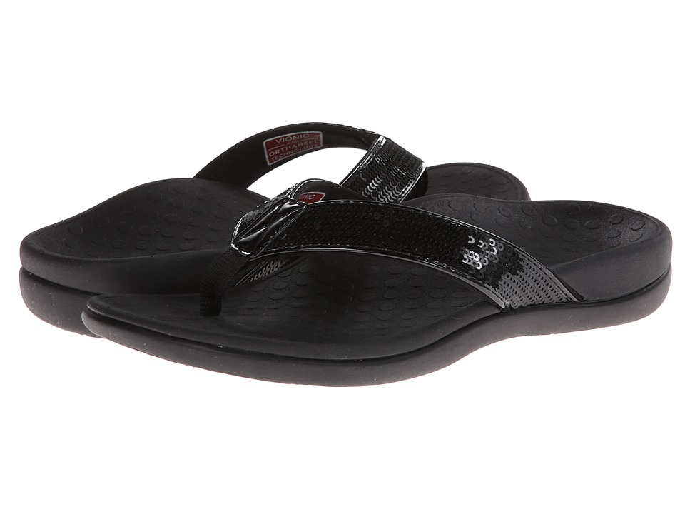 VIONIC - Tide Sequins (Black) Women's Sandals
