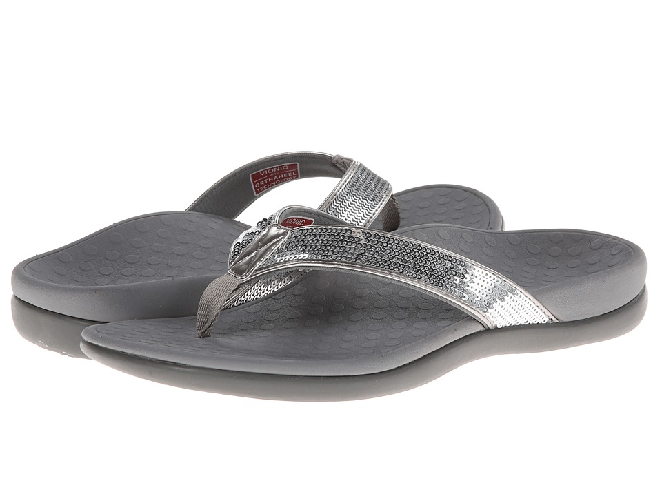 VIONIC - Tide Sequins (Silver) Women's Sandals