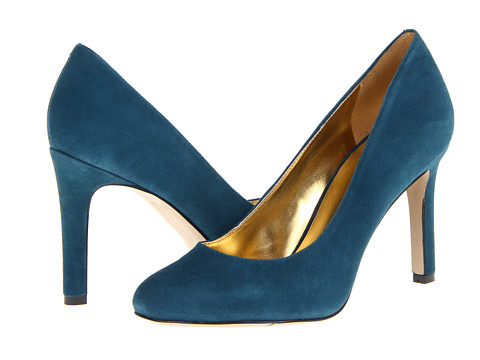 Shop Nine West online and buy Nine West Gramercy Blue Green Suede Shoes - Nine West - Gramercy (Blue Green Suede) - Footwear: These gorgeous pumps are perfect for any occasion! ; Easy slip-on wear. ; Available in a variety of uppers. ; Man-made lining. ; Lightly cushioned man-made footbed. ; Wrapped heel. ; Man-made sole. ; Imported. Measurements: ; Heel Height: 4 in ; Weight: 8 oz ; Product measurements were taken using size 9, width M. Please note that measurements may vary by size.