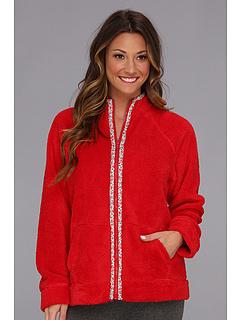 SALE! $16.99 - Save $41 on Carole Hochman Fresco Roses Zip Bed Jacket (Crimson Red) Apparel - 70.71% OFF $58.00