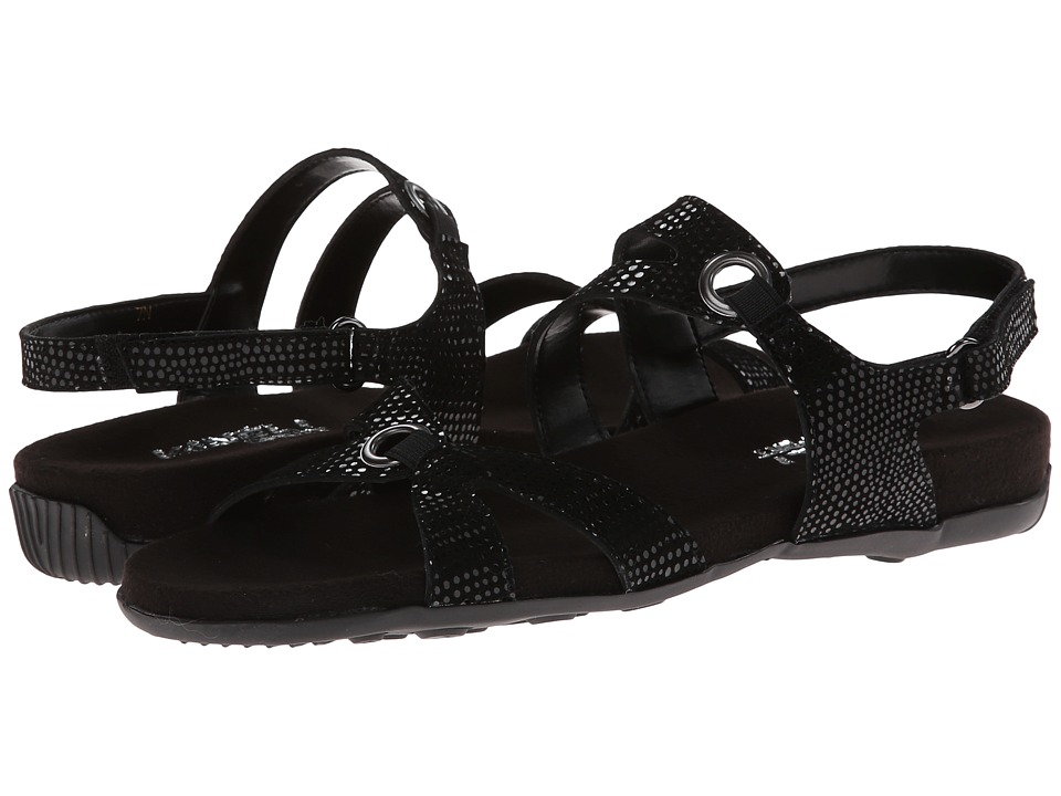 Vaneli - Nira (Black E-Print/Mtch Elastic) Women's Sandals