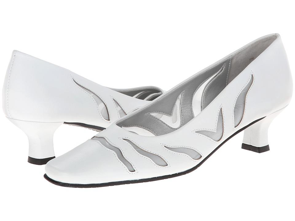 Vaneli - Racilia (White Nappa/Mtch Mesh) Women's 1-2 inch heel Shoes