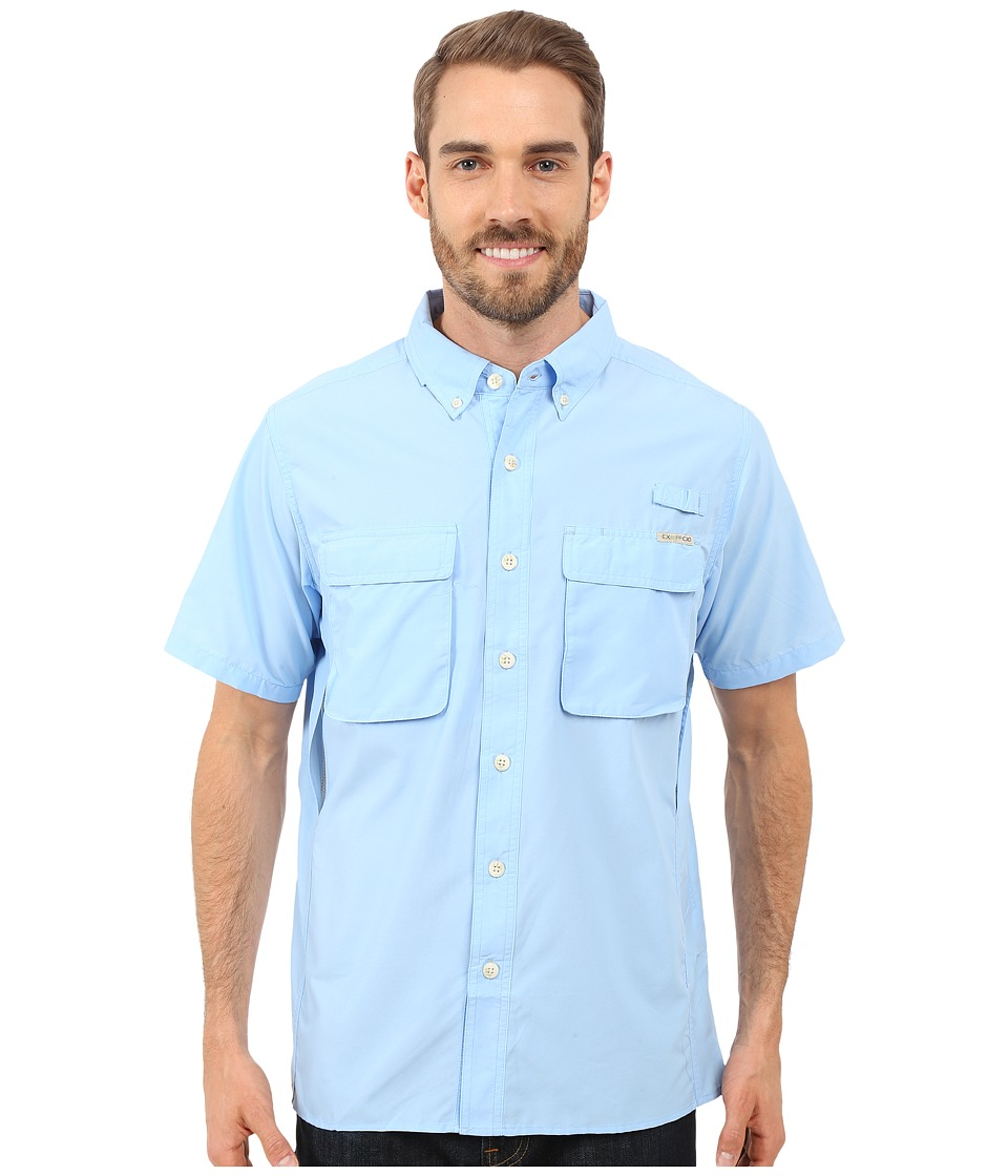 ExOfficio - Air Strip S/S Top (Light Lapis) Men's Short Sleeve Button Up