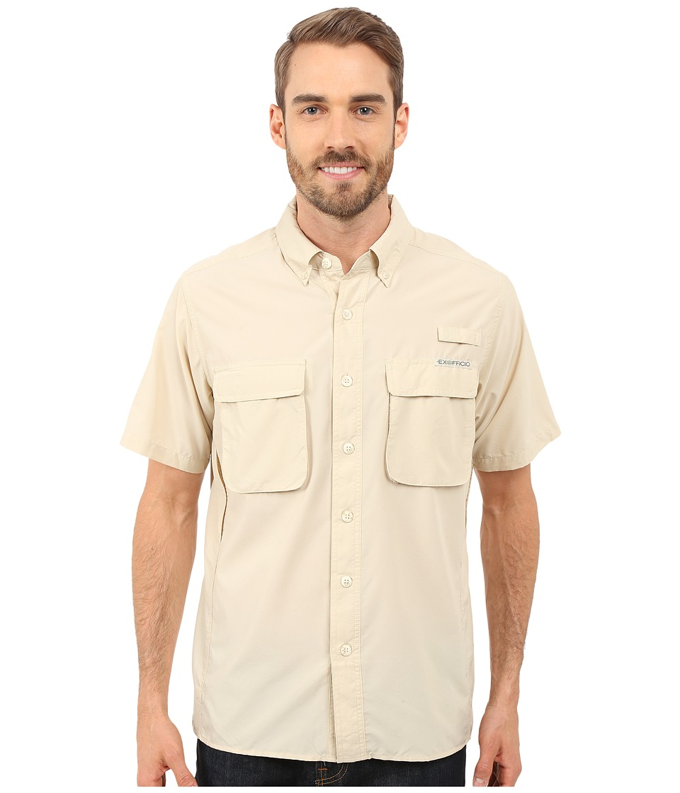 ExOfficio - Air Strip S/S Top (Bone) Men's Short Sleeve Button Up