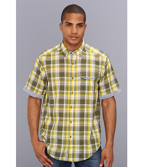 ExOfficio - Freiburg Short Sleeve (Algae) Men's Short Sleeve Button Up