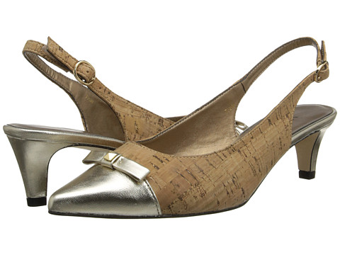 Vaneli - Tiffany (Natural Cork/Platino Met Nappa) Women