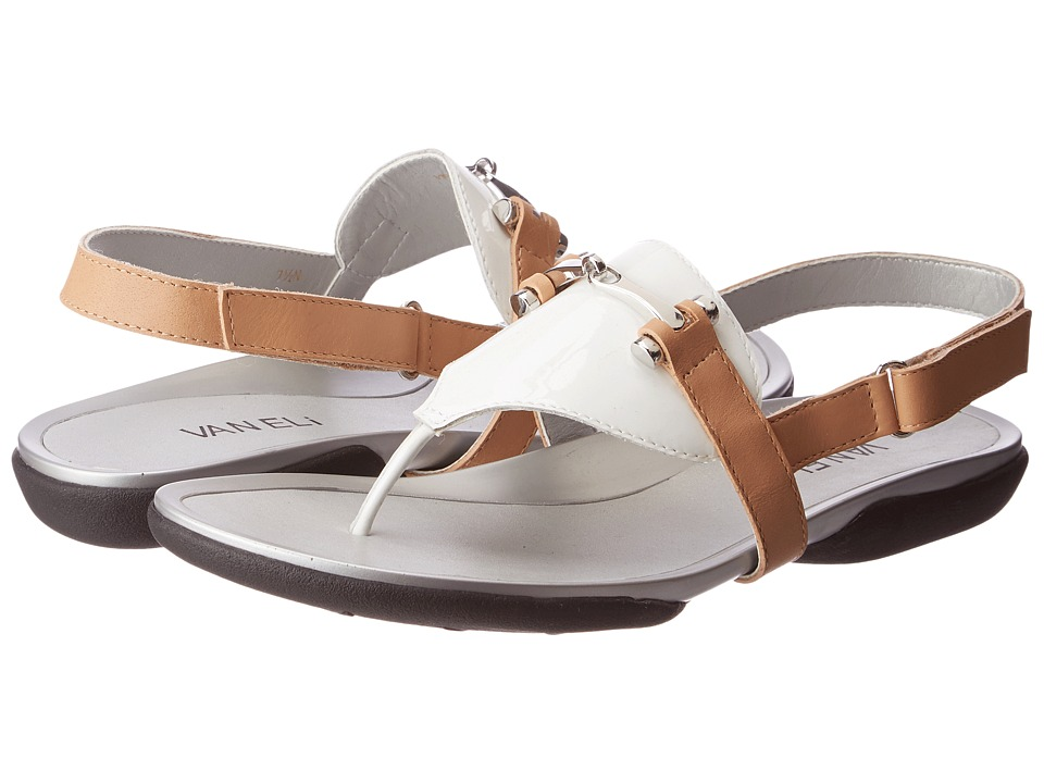 Vaneli - Wander (White Mag Patent/Natural Bulgaro Calf) Women's Sandals