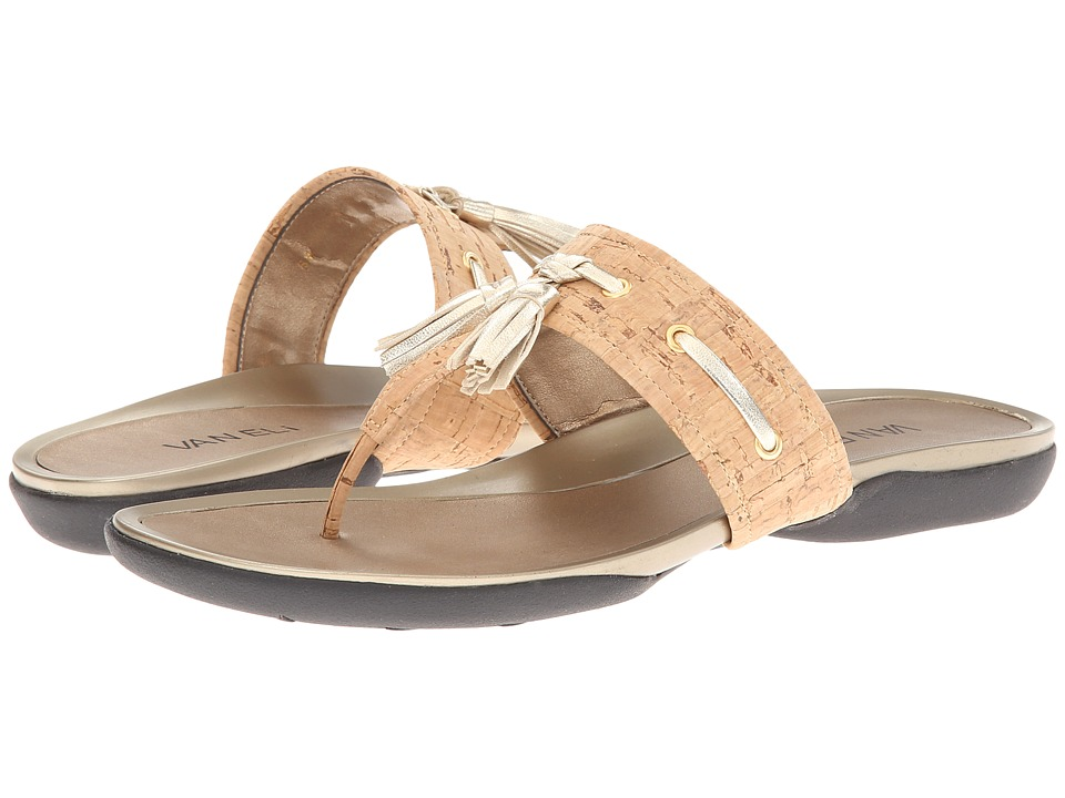 Vaneli - Wanita (Natural Cork/Platino Met Nappa) Women's Sandals