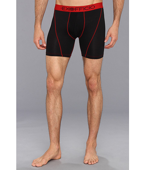 ExOfficio - Give-N-Go Sport 6 Boxer Brief (Black) Men's Underwear
