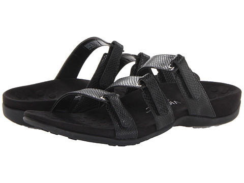 VIONIC with Orthaheel Technology - Aubrey (Black Snake) Women's Sandals