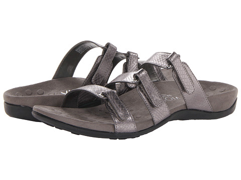 VIONIC with Orthaheel Technology - Aubrey (Pewter Snake) Women's Sandals