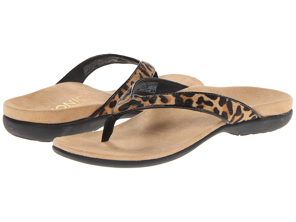 VIONIC with Orthaheel Technology - Selena (Tan Leopard) Women's Sandals