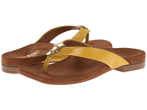 VIONIC with Orthaheel Technology - Lima (Yellow Lizard) Women's Sandals