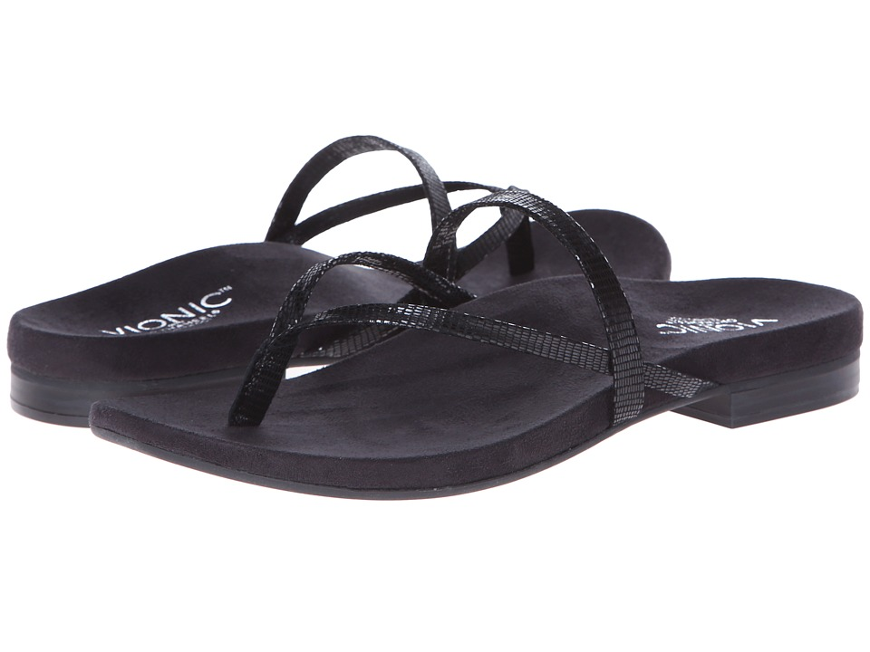 VIONIC - Santiago (Black) Women's Sandals